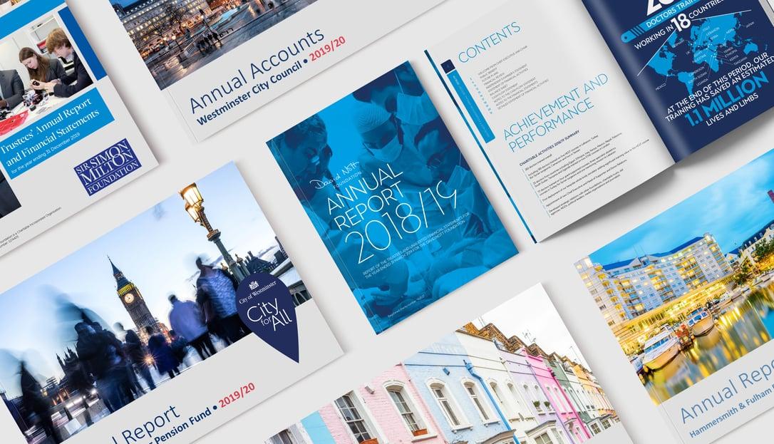 Annual Reports Blog mockup