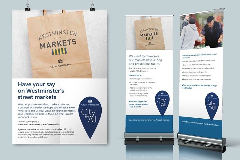 Westco Market Consultation Project Banner & Flyer